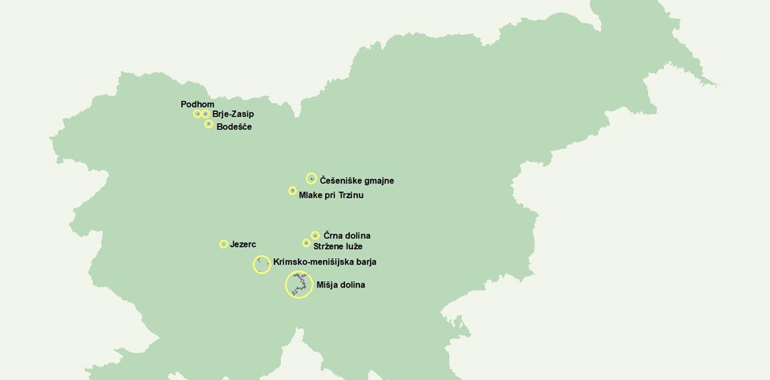 Projektna območja
